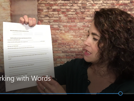 Working With Words Worksheet