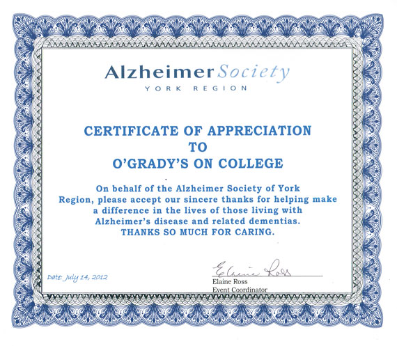 Alzheimer Society York Region