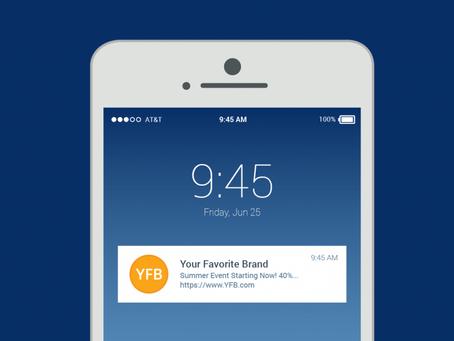 Push notification: mensagem na tela do celular