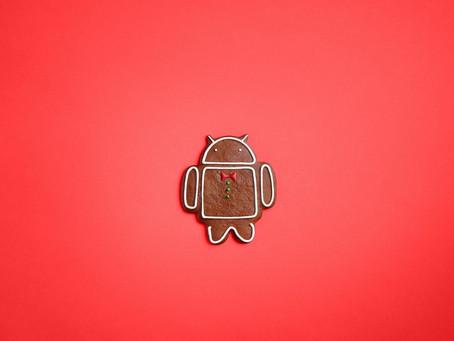 A história (doce) do Android