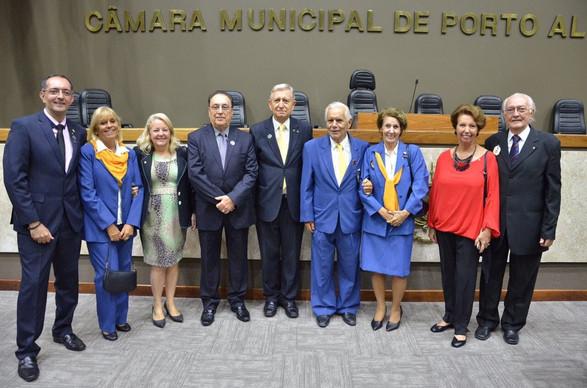 Homenagem recebida da Câmara Municipal de Porto Alegre, pelos 100 anos de fundação do Lions, em 2017