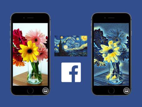 Nova ferramenta do Facebook transformará fotos em obras de arte