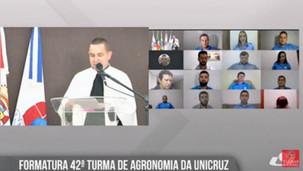 Unicruz forma 49 Engenheiros Agrônomos em cerimônia on-line