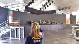Estrutura para atrações da Semana Farroupilha recebe fiscalização do CREA-RS