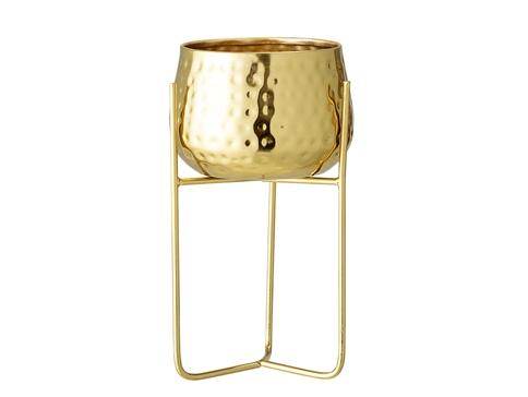 Flowerpot Gold Metal D12,5cm x 23cm