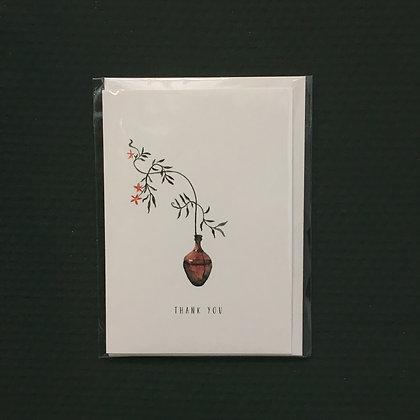 Card+Envelop 'Thank you'