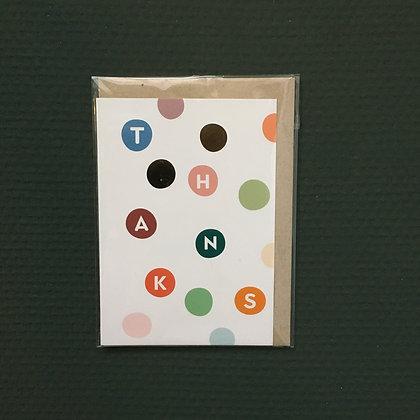 Card+Envelop 'Thanks'
