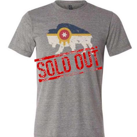 Sold Out - Tulsa Flag Bison Tshirt
