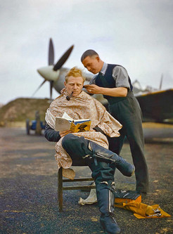 Pilot getting a Shave