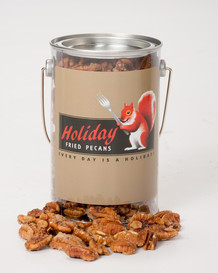 HOLIDAY FRIED PECANS - 1LB PAIL