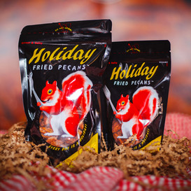 HOLIDAY FRIED PECANS 1/4 LB.