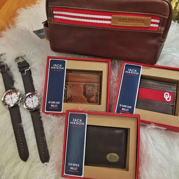 Jack Mason leather goods - OU and OSU -- ridiculous prices!