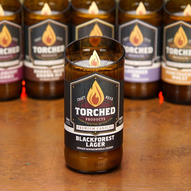Torched Beer Bottle Candles