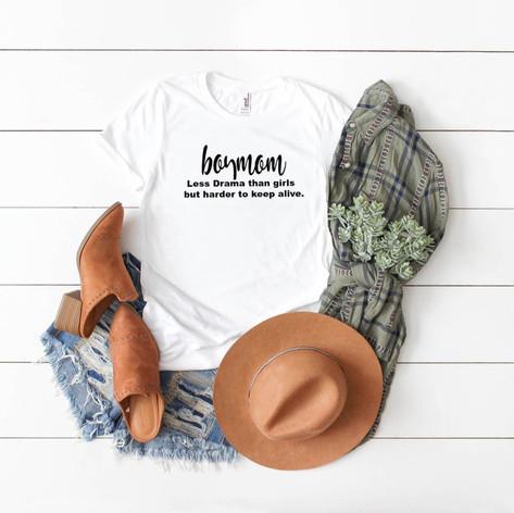 Boy Mom T-Shirt (White)