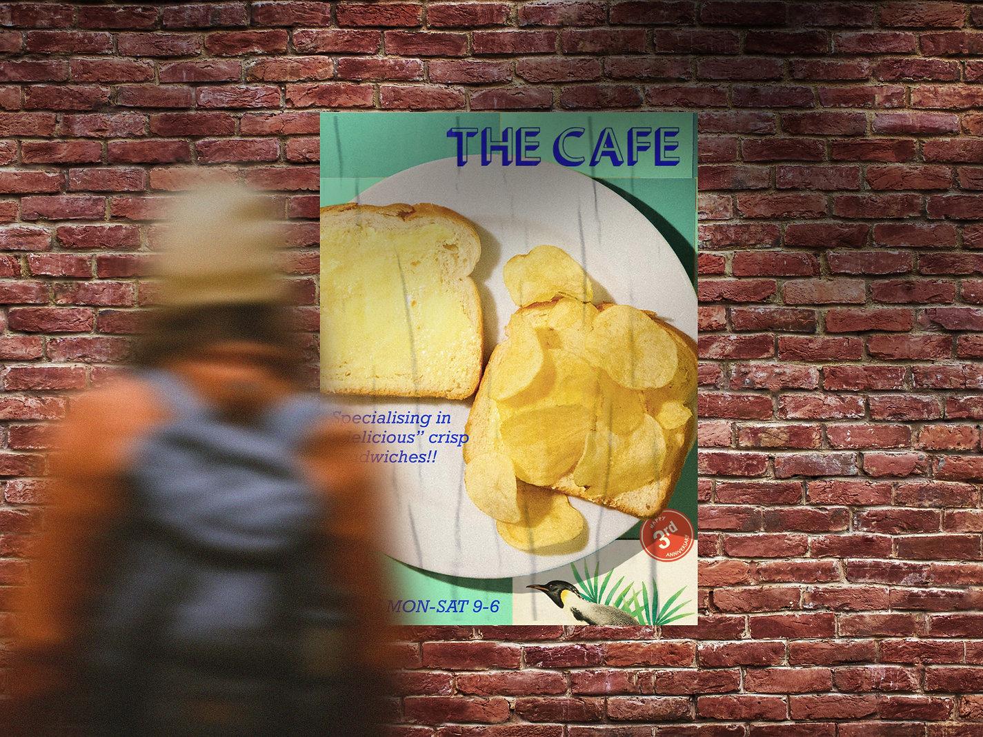 Outdoor Girl Looking Bricks Wall Poster
