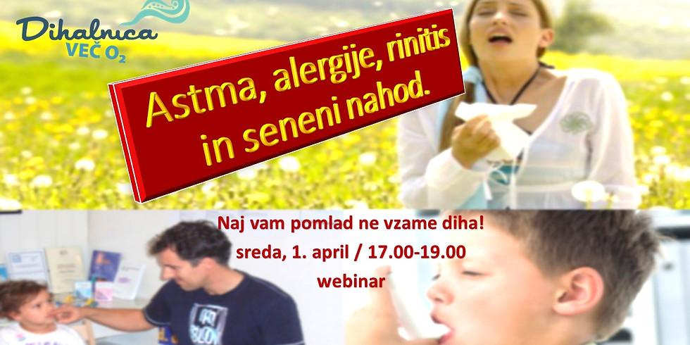 Astma, alergije, rinitis in seneni nahod - webinar