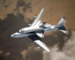 Space Shuttle Columbia on a 747