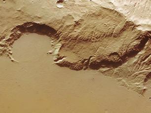 Lava Ablagerungen im Mangala Fossae