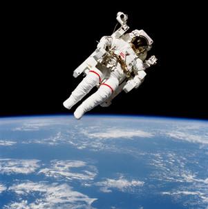 Astronaut Bruce McCandless Floating Free