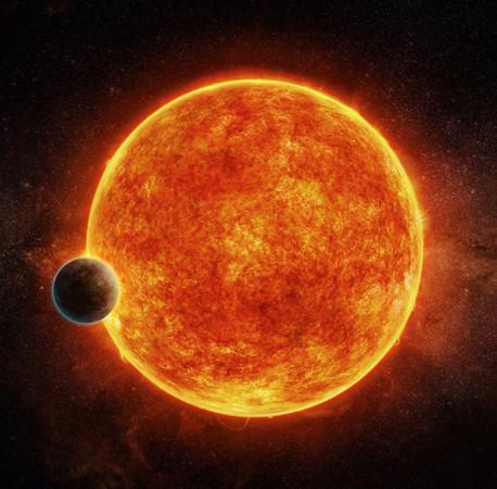 Artist's impression of rocky Exoplanet