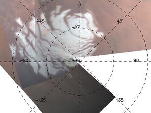 Mars Polarkappen Mysterium gelöst