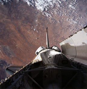 Cargo bay of the Space Shuttle Columbia (STS-73)