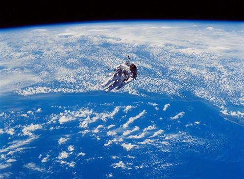 Extravehicular activity (EVA) from Astronaut Robert L. Stewart