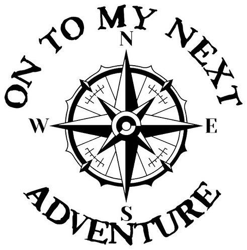 On To My Next Adventure sticker