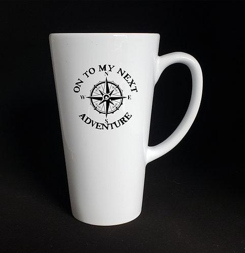 On To My Next Adventure latte mug