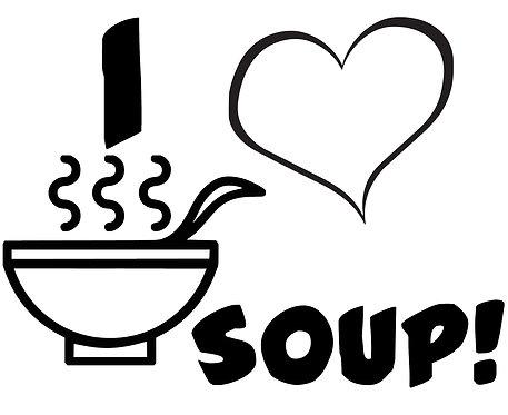 I Love Soup sticker