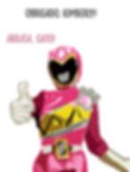 gif meme power ranger rosa explodindo no chute kimberly