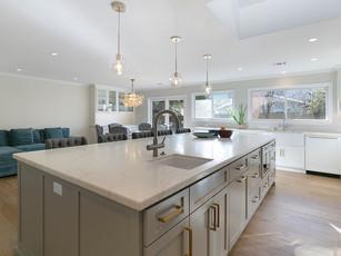 View Gourmet Open Concept Kitchen