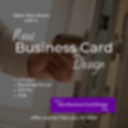 Business Card Design Offer