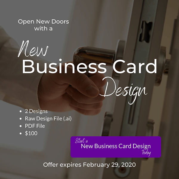 Business Card Design Offer