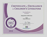 Purple Dragonfly Winner Certificate 2018