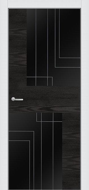 ALUFORM 4.  Ясень чёрный, стекло AGS чёрное