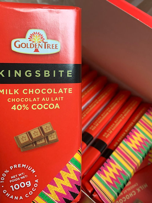 Kingsbite - Authentic Ghanaian Milk Chocolate - Made in Ghana
