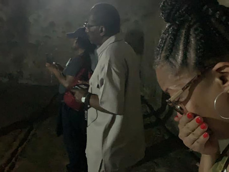 My wife's response to the Cape Coast slave dungeon in Ghana - Wow!