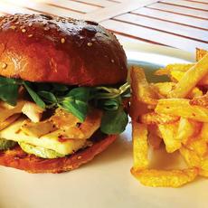 Chicken Haloumi Burger   32.00 Ron