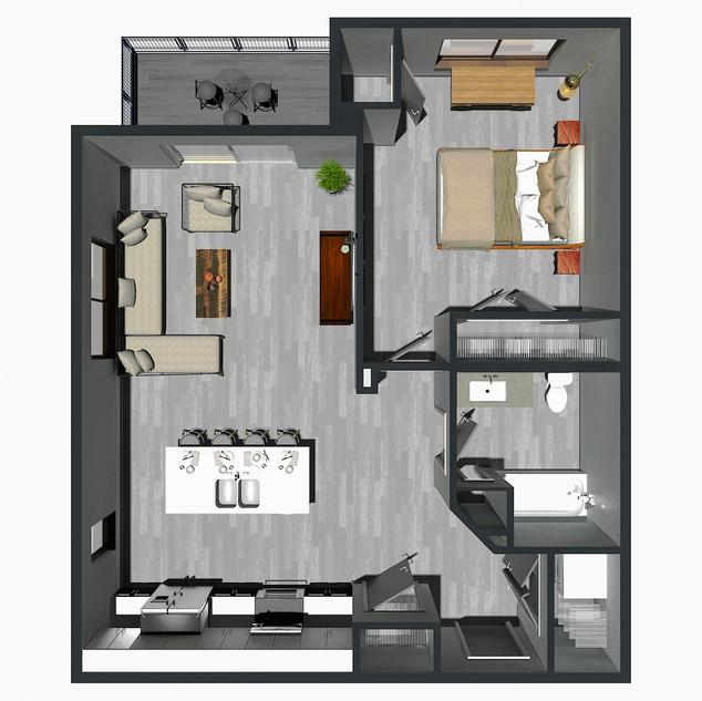 RENTED / 1 Bedroom [B1] / $1,195