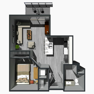 RENTED / 1 Bedroom Hybrid [F] / from $995
