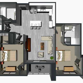 RENTED / 2 Bedroom [E] / from $1,495