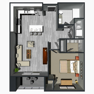 1 Bedroom [A,G] / from $1,245
