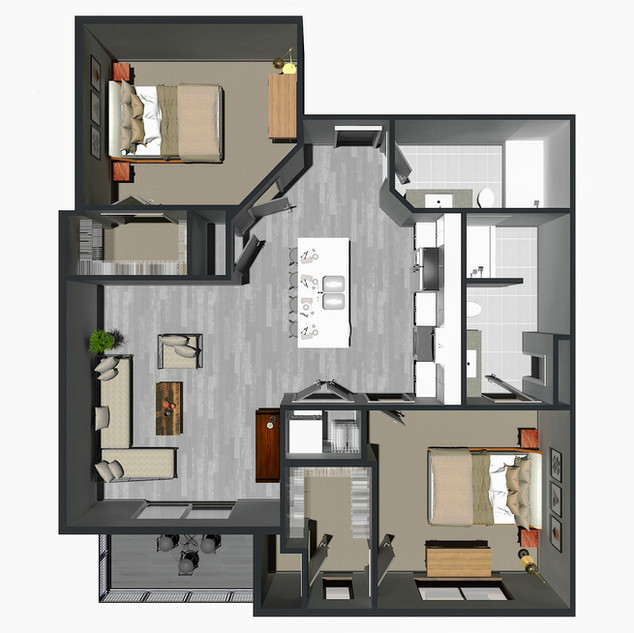 RENTED / 2 Bedroom [D] / from $1,495