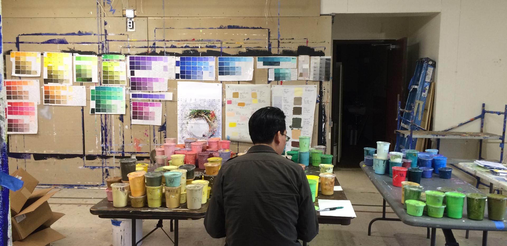 Preparing for paint days with Kien Nguyen at Fisher Park Philadelphia