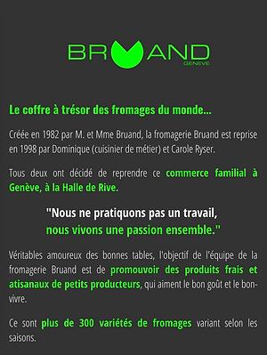Présentation Fromagerie Bruand