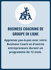 Business Coaching de groupe en ligne