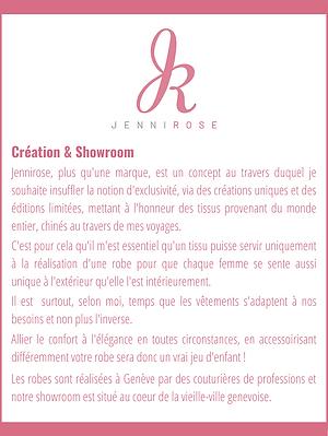 Présentation Jennirose Création & Showro