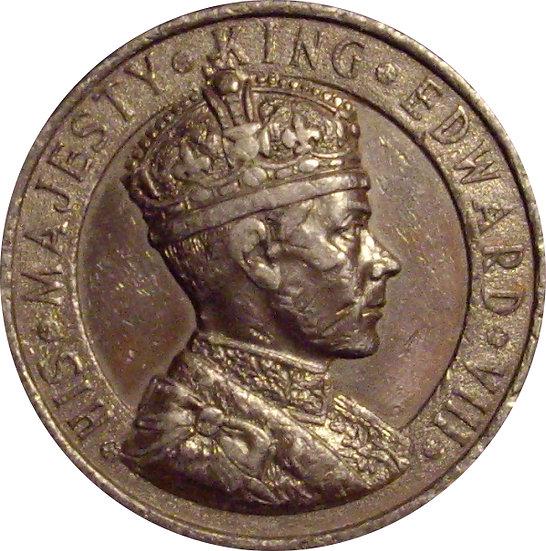 INGLATERRA. MEDALLA CORONACIÓN EDUARDO VIII. 1.937