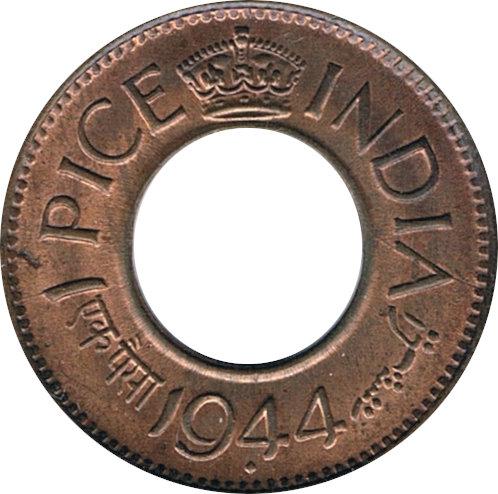 INDIA. 1 PICE 1.944